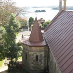 Heritage Church - Sydney - Copper Double lock standing seam